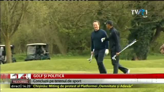 Barack Obama și David Cameron au jucat golf