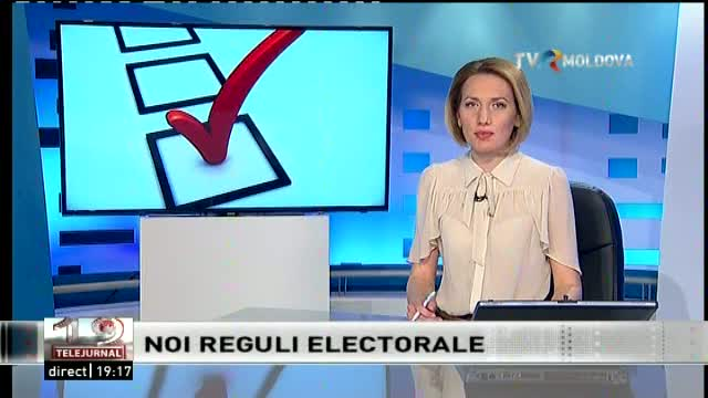 TELEJURNAL MOLDOVA / Noi reguli electorale