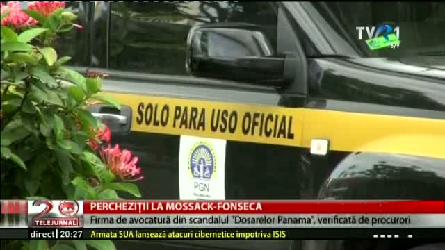 Percheziții la Mossack-Fonseca