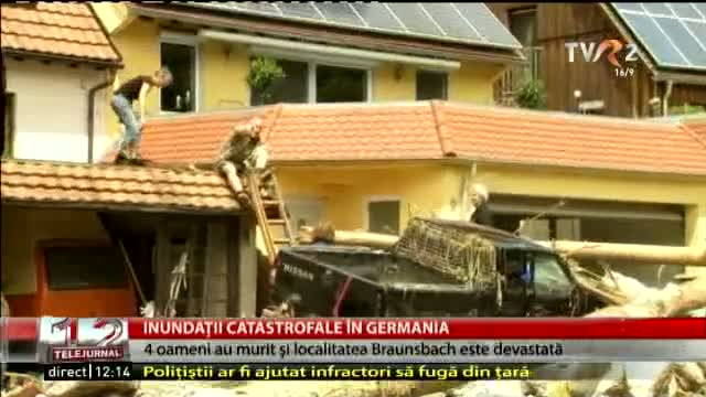 Inundații catastrofale în Germania