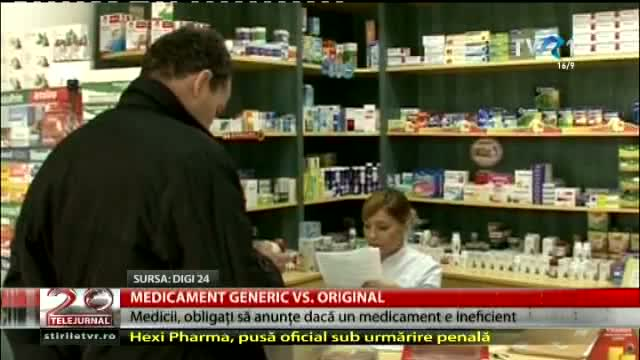 Medicament generic vs. original