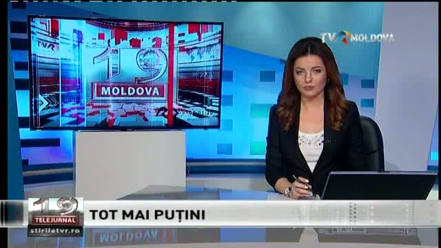 Telejurnal Moldova - Tot mai puțini