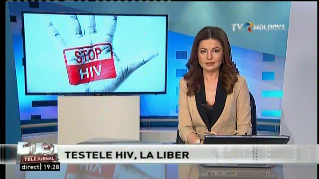 Telejurnal Moldova - Testele HIV la liber