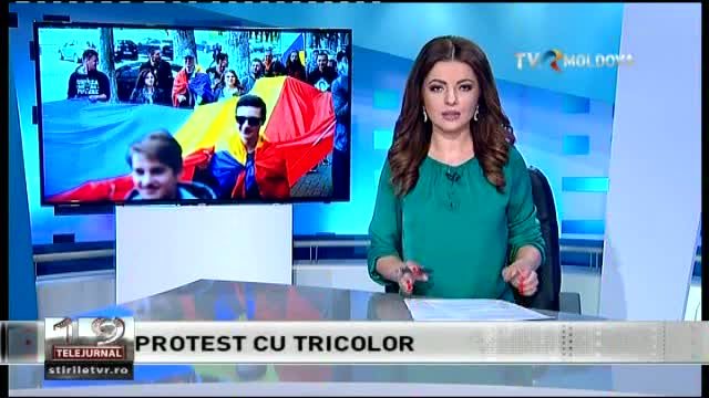 TELEJURNAL MOLDOVA / Protest cu tricolor