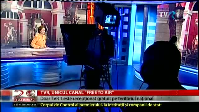 "TVR, unicul canal ""free to air"""