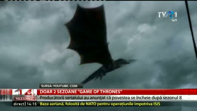 Doar 2 sezoane de Game of Trhones