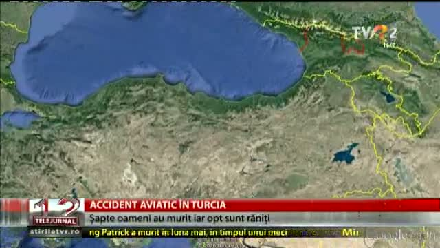 Accident aviatic în Turcia