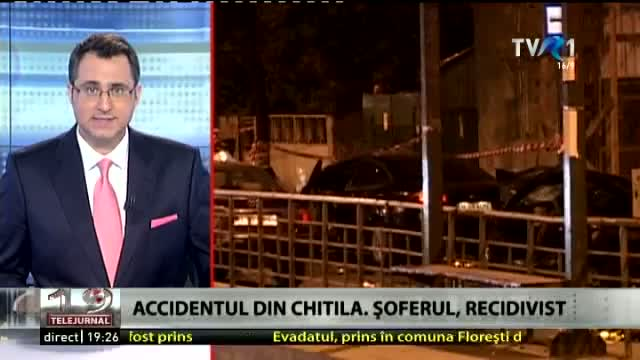 Accidentul din Chitila. Șoferul, recidivist