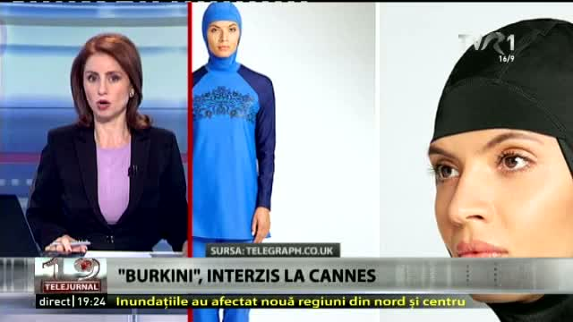 Burkini, interzis la Cannes