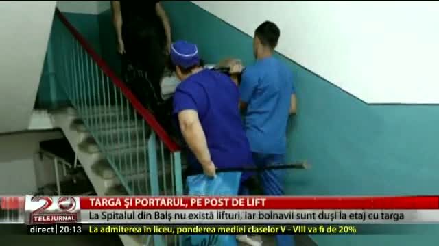 Targa și portarul, pe post de lift