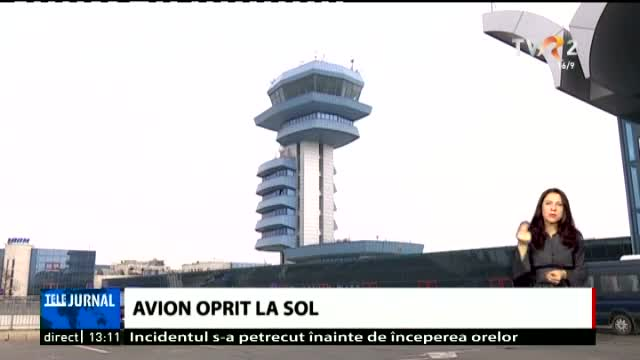 Avion oprit la sol