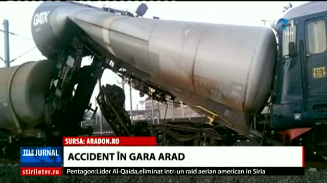 Accident in gara Arad
