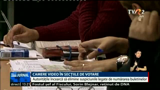 Camere video in sectiile de votare