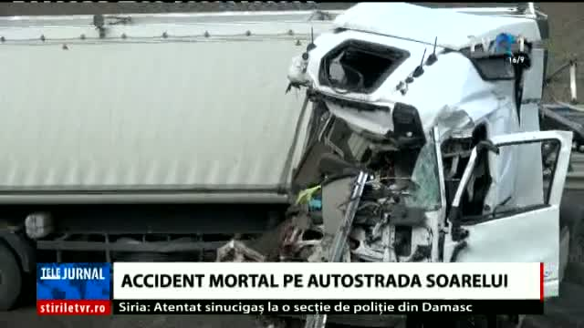 Accident mortal pe A2