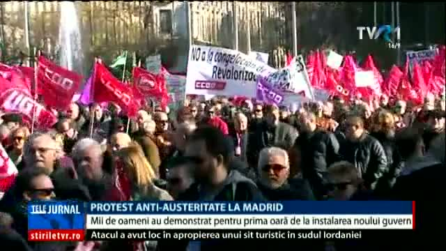 Protest anti-austeritate la Madrid
