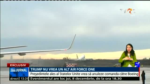 Trump nu vrea un alt Air Force One