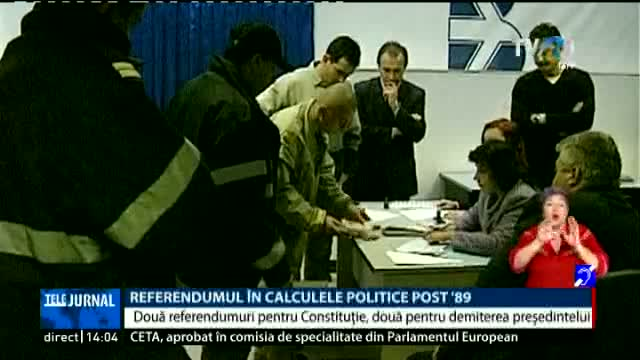 Referendumul în calculele politice post 89