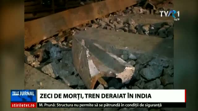 Tren deraiat în India