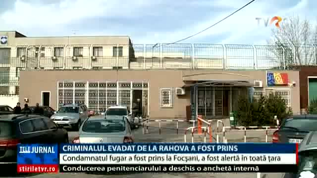 Criminalul evadat a fost prins