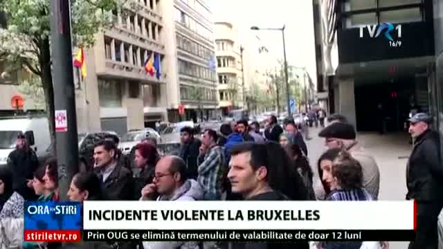 Incidente violente la Bruxelles