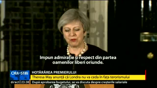 Theresa May, despre atacul terorist
