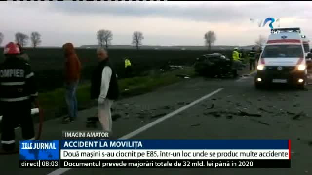Accident la Movilița