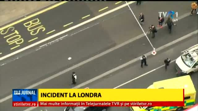 Imagini în direct, la Telejurnal, de la incidentul din Londra