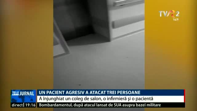 Un pacient agresiv a atacat 3 persoane