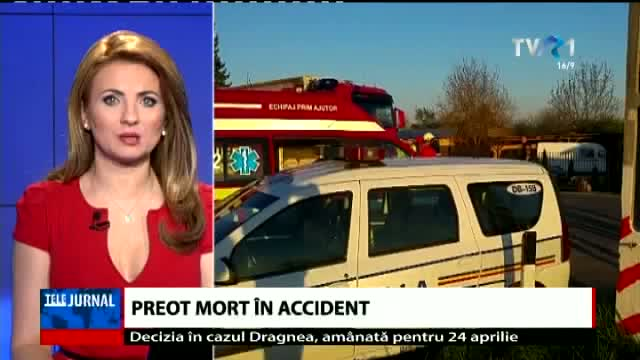 Preot mort în accident