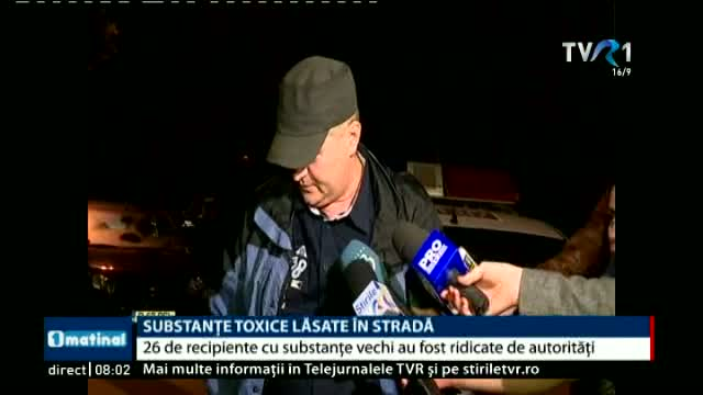 Substante toxice lasate in strada