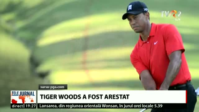 Tiger Woods a fost arestat