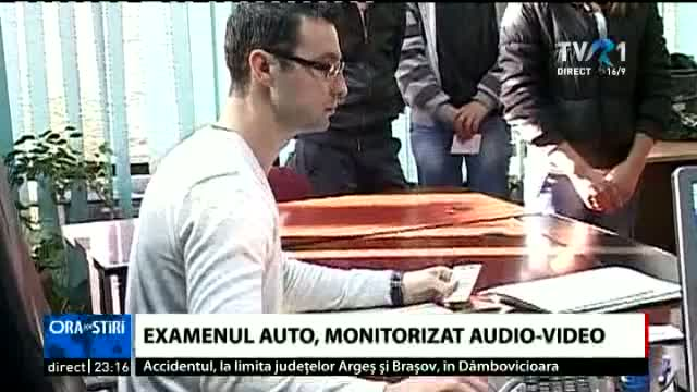 Examenul auto, monitorizat video