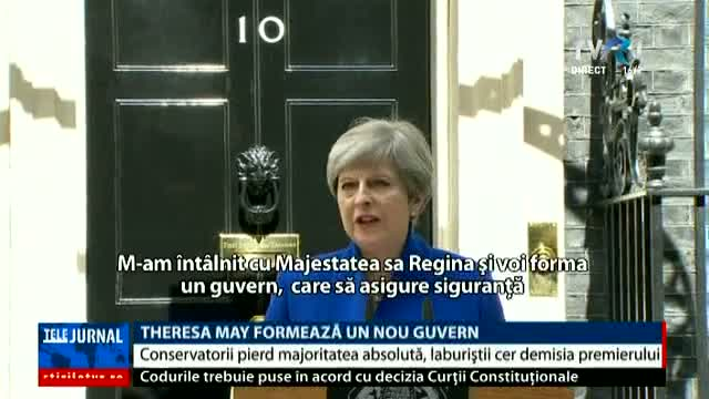 Theresa May, declarații în Downing Street 10