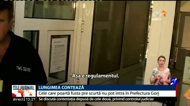 Regulament straniu în Prefectura Gorj