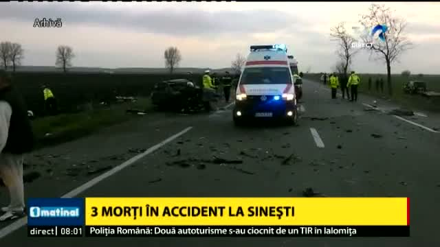 Accident la Sinești