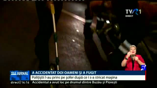 A accidentat doi oameni și a fugit