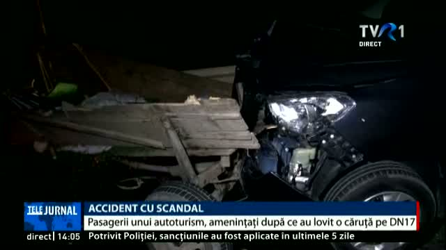 Accident cu scandal