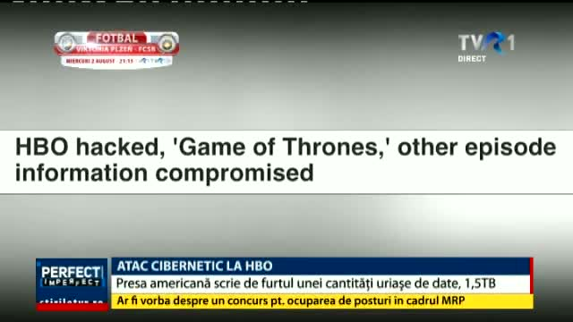 Atac cibernetic la HBO