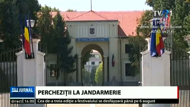 Perchezițiile la Jandarmerie, la final