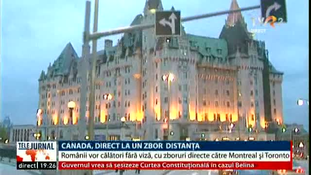 Canada, direct la un zbor distanță