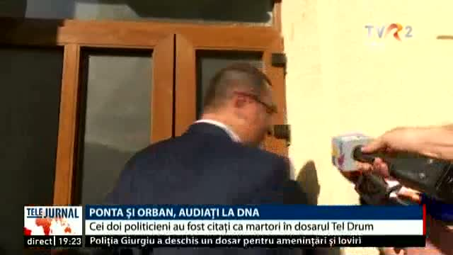 Ponta și Orban, la DNA