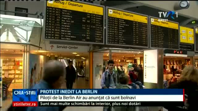 Protest inedit al piloților în Berlin