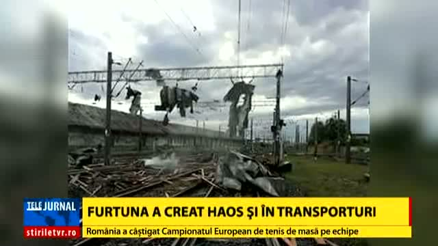 Furtuna a creat haos și în transporturi