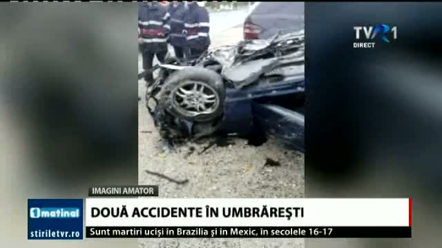 Doua accidente la Umbraresti