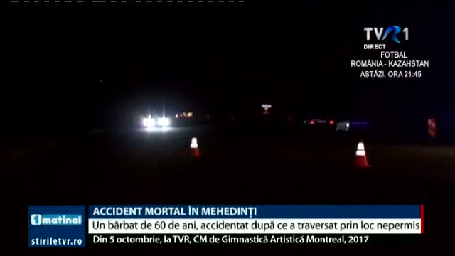 Accident mortal in Mehedinti
