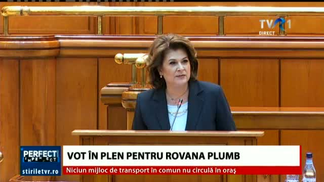 Rovana Plumb, discurs