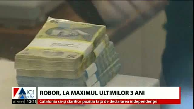 ROBOR, la maximul ultimilor 3 ani