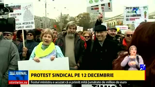 Protest sindical pe 12 decembrie