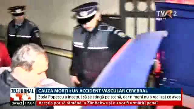 Cauza morții: accident vascular cerebral