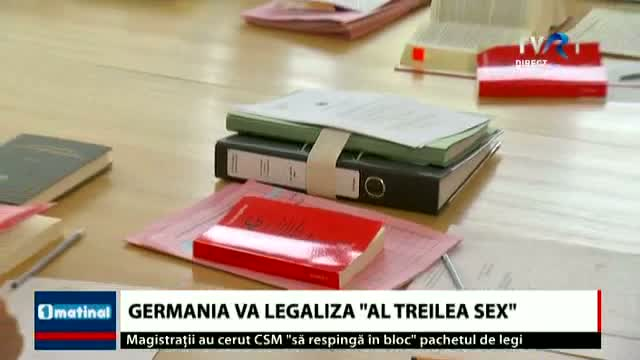 Germania va legaliza al treilea sex